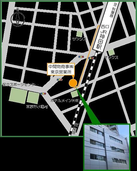 東京営業所地図